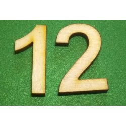 Fa szám 12-es, 3cm