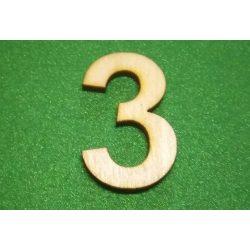 Fa szám 3-as, 3cm