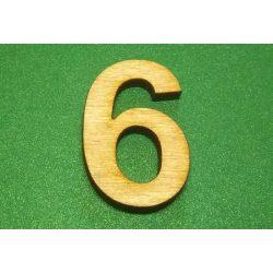 Fa szám 6-os, 3cm