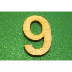 Fa szám 9-es, 3cm