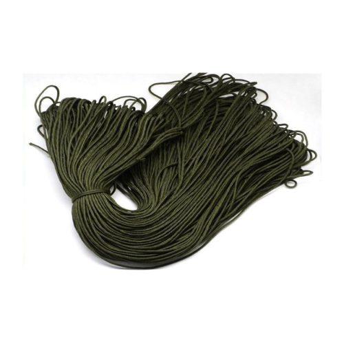Paracord zsinór, sötét oliva zöld, 2mm