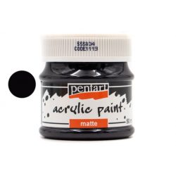 Pentart matt akrilfesték 50 ml fekete