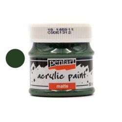 Pentart matt akrilfesték 50 ml fenyőzöld
