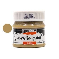 Pentart matt akrilfesték 50 ml mogyoró