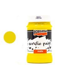 Pentart matt akrilfesték 100 ml sárga 0091