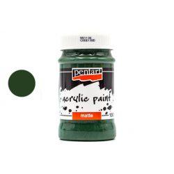 Pentart matt akrilfesték 100 ml fenyőzöld