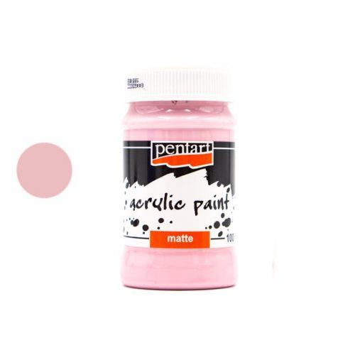 Pentart matt akrilfesték 100 ml rózsaszín