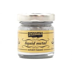 Pentart folyékony fém 30 ml ezüst