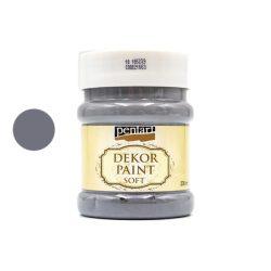 Pentart dekorfesték lágy 230 ml grafitszürke