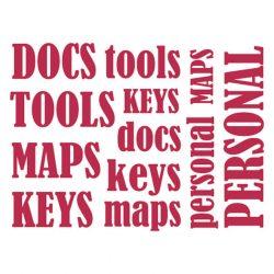 Stencil D méret 20x15cm - Words for documents KSD250