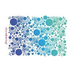 Stencil G méret 21x29,7cm - Small dots KSG331