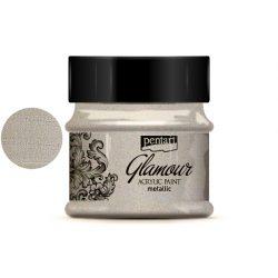 Glamour metál akrilfesték 50ml óezüst