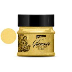 Glamour metál akrilfesték 50ml arany