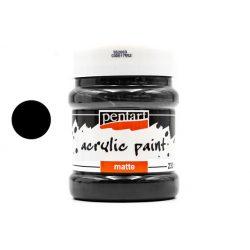 Pentart matt akrilfesték 230 ml fekete