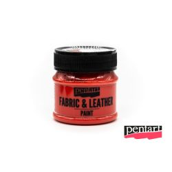 Textilfesték és bőrfesték, 50 ml piros