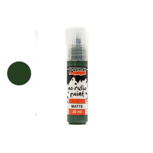 Pentart matt akrilfesték 20 ml fenyőzöld