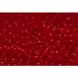 Préselt golyó 3mm, piros, 60 db