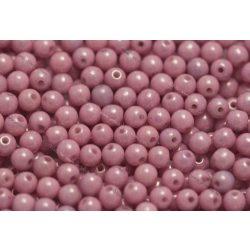 Préselt golyó 4mm, pink, 45 db