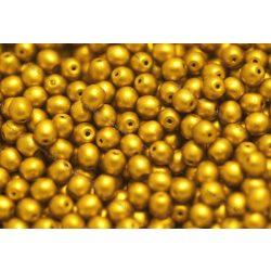 Préselt golyó 4mm, matt arany, 45 db