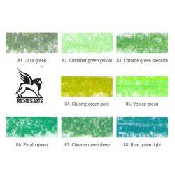 Finom pasztellkréta - Renesans 83. Chrome green medium