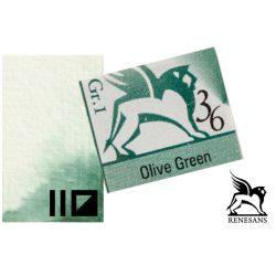 Renesans akvarell szilke 1.5ml, Olive Green