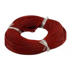 Marhabőr szál, kerekített, piros, 2mm