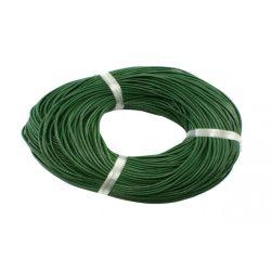 Marhabőr szál, kerekített, zöld, 2mm
