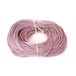 Marhabőr szál, kerekített, pink, 2mm