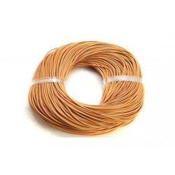 Marhabőr szál, kerekített, vil. barna, 2mm
