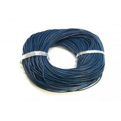 Marhabőr szál, kerekített, tengerész kék, 2mm