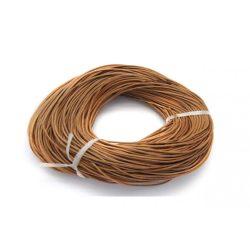 Marhabőr szál, kerekített, világos barna, 2mm