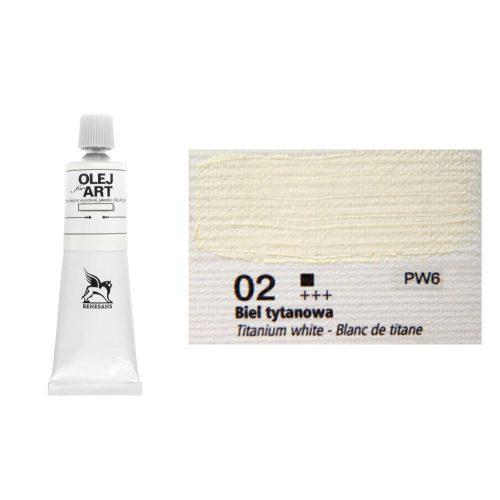 Renesans olajfesték 60ml, titanium white - titánfehér 02