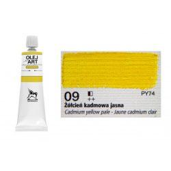 Renesans olajfesték 60ml,  cadmium yellow pale - világos kadmium sárga 09