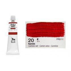 Renesans olajfesték 60ml, carmine red - kárminpiros 20