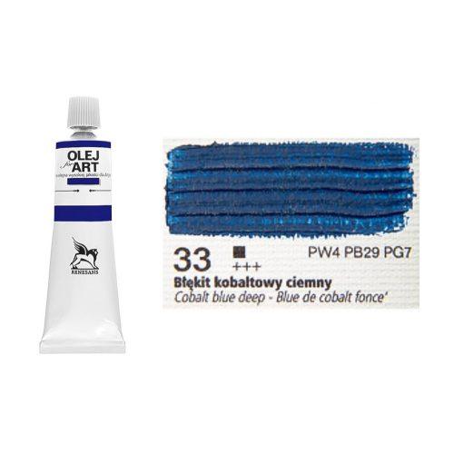 Renesans olajfesték 60ml, cobalt blue deep - sötét kobaltkék 33