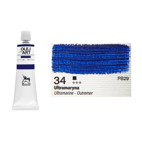 Renesans olajfesték 60ml, ultramarine - ultramarin 34