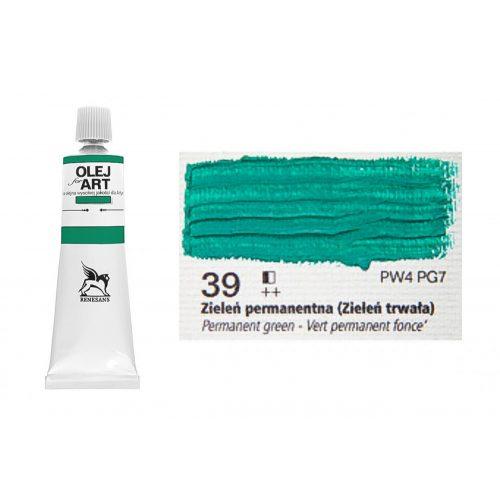 Renesans olajfesték 60ml, permanent green - permanent zöld 39