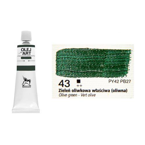 Renesans olajfesték 60ml, olive green - olivazöld 43