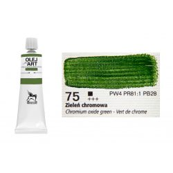 Renesans olajfesték 60ml, Chromium oxide green - krómoxidzöld 75