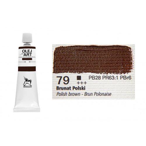 Renesans olajfesték 60ml, polish brown 79