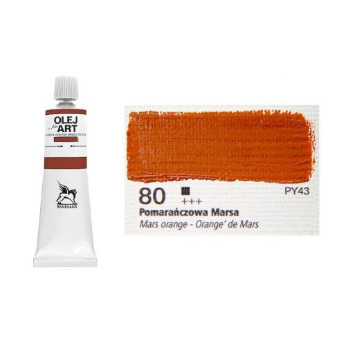 Renesans olajfesték 60ml, mars orange 80