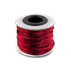 Szatén zsinór (rattail) 2mm, piros 10m