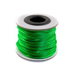 Szatén zsinór (rattail) 2mm, olajzöld 10m