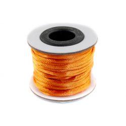 Szatén zsinór (rattail) 2mm, narancs 10m