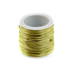 Szatén zsinór (rattail) 2mm, vil.zöld 10m