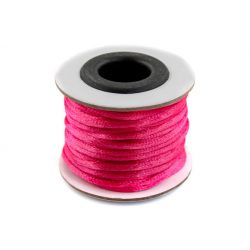 Szatén zsinór (rattail) 2mm, rózsaszín 10m