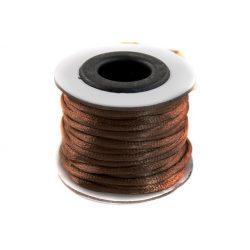 Szatén zsinór (rattail) 2mm, sötétbarna 10m