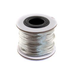 Szatén zsinór (rattail) 2mm, szürke 10m