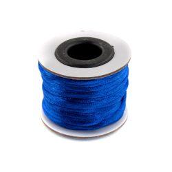 Szatén zsinór (rattail) 2mm, kék 10m