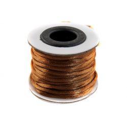 Szatén zsinór (rattail) 2mm, középbarna 10m